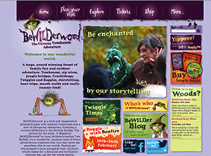 BeWILDerwood website