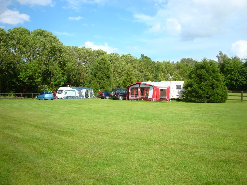 View over campsite