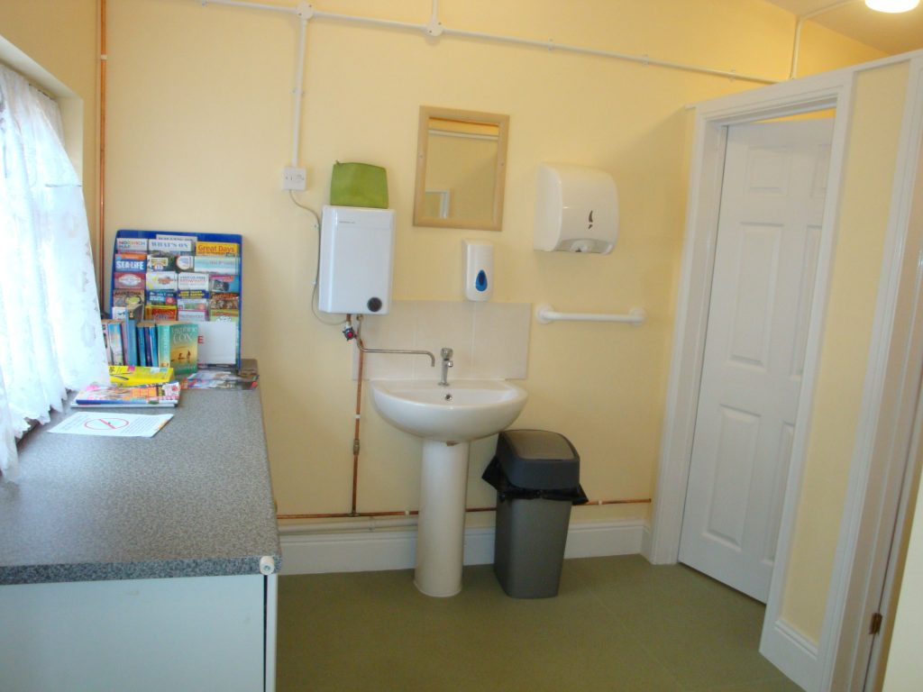 Inside the toilet blocks